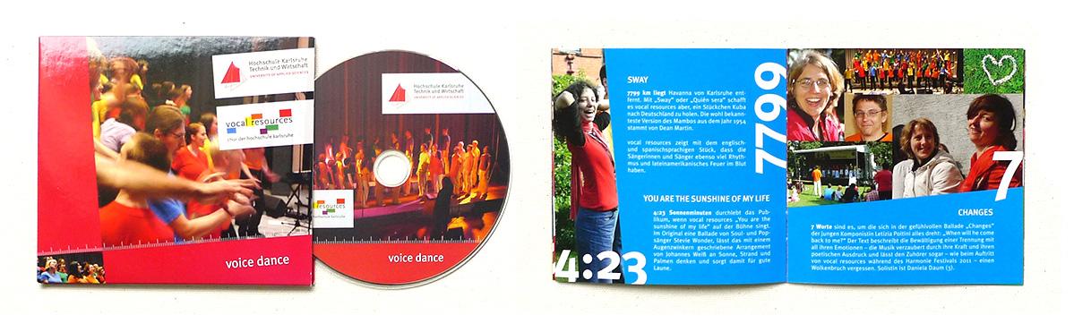 Voice Dance – CD von vocal resources, Chor der Hochschule Karlsruhe